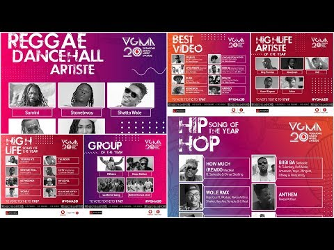 Full List: Vodafone Ghana Music Awards (VGMA) 2019 Nominees (Official Nominations) Mp3