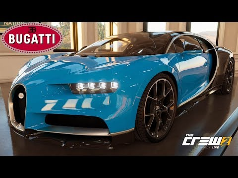 The Crew 2 - Bugatti Chiron - Customization, Top Speed, Review