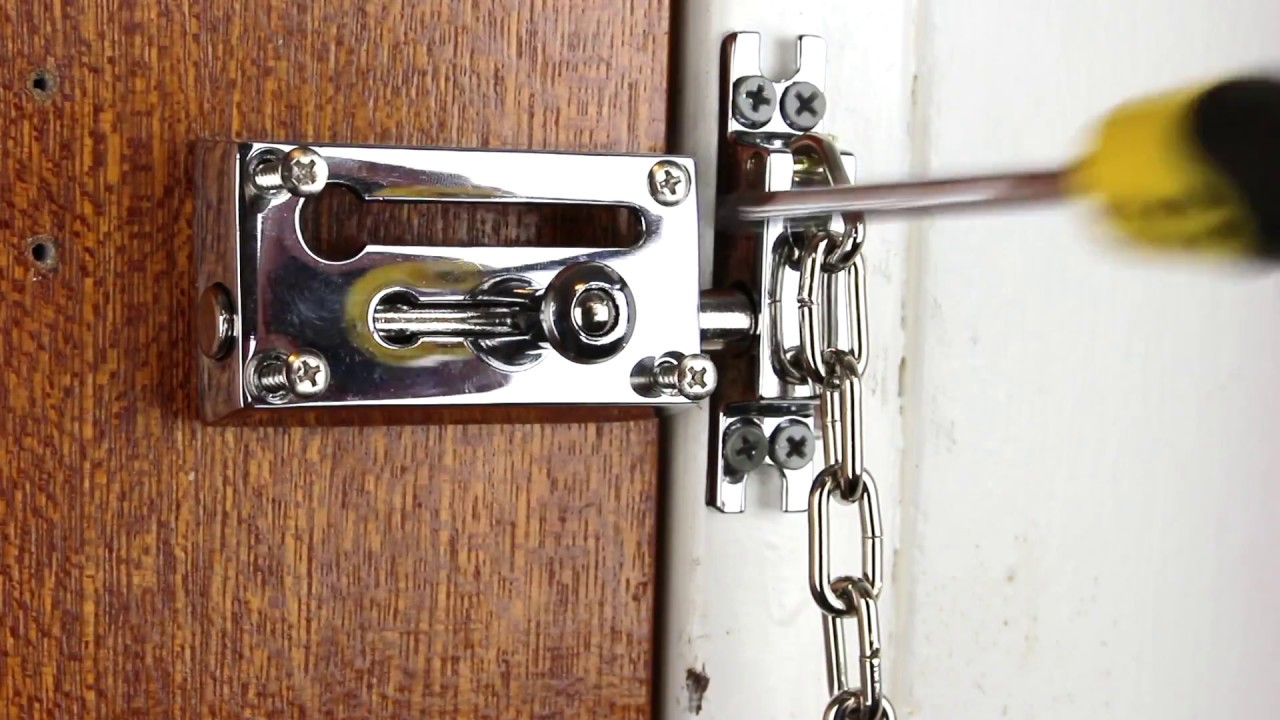 World\'s Best Door Chain. Install a Door Chain - YouTube