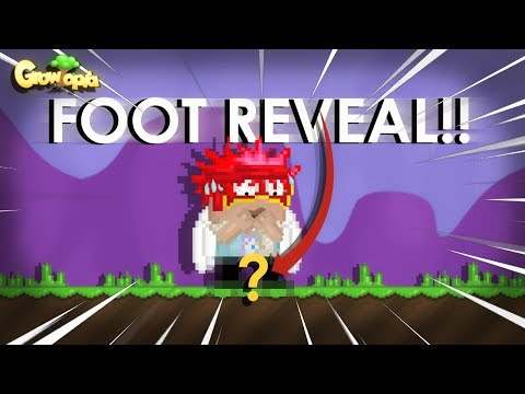 FOOT REVEAL 10.000 SUBSCRIBERS ( EPIC ) | GROWTOPIA!!!!!