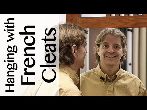 How to use French cleats to hang a mirror, picture or TV