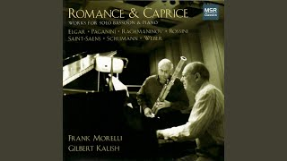 Romanzen, Op. 94 for Oboe and Piano (adapted for bassoon) : I. Nicht schnell