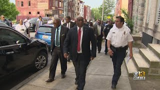 Mayor Jack Young Joins Police, Community For Crime Walk In North Baltimore