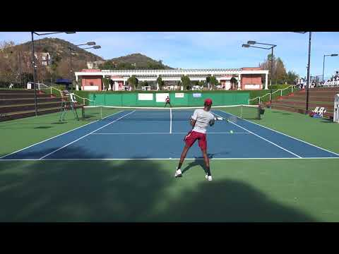 01 14 2018 Stanford Vs Stanford Sherwood Collegiate men's tennis semi final
