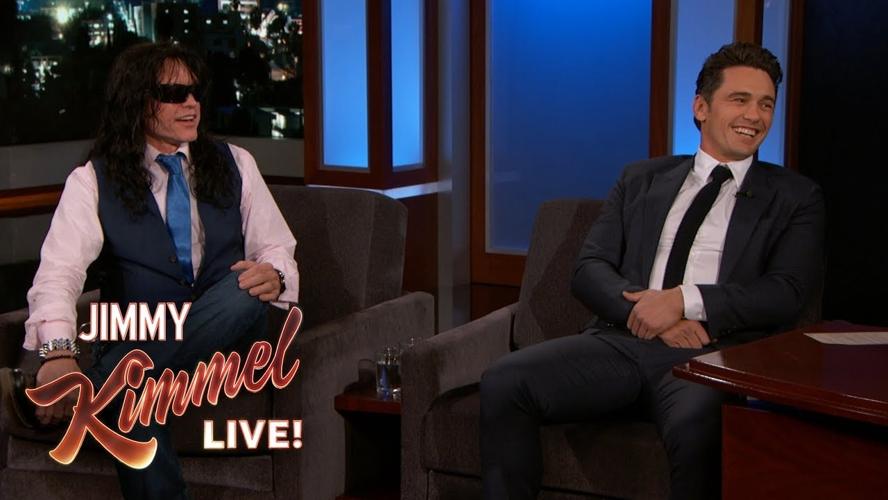 a89e4f4326c3 James Franco Brings Tommy Wiseau to Kimmel - YouTube