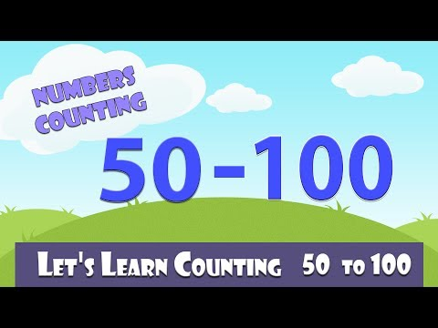 Learn To Count 50 - 100   Numbers Counting   Learn Counting 50 - 100 In English For Kids