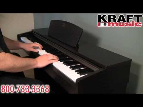 kraft music yamaha arius ydp 161 digital piano demo. Black Bedroom Furniture Sets. Home Design Ideas
