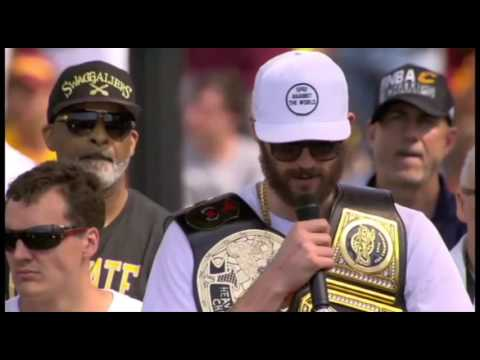 Kevin Love talks at Cleveland Cavaliers Championship Rally - 동영상