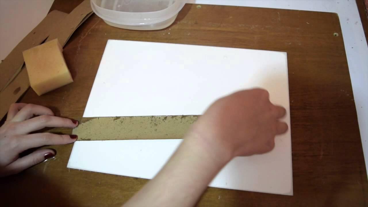 Como tensar papel para acuarela youtube - Papel de pared para pintar ...