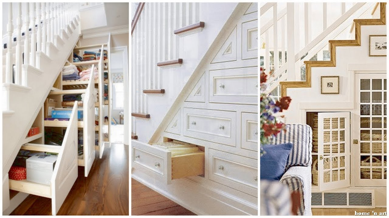 60 Creative Ideas To Use Small Space Under The Stairs Youtube   Creative Stairs For Small Spaces   Low Cost Simple   Beautiful   Tiny House   Modern   Unique