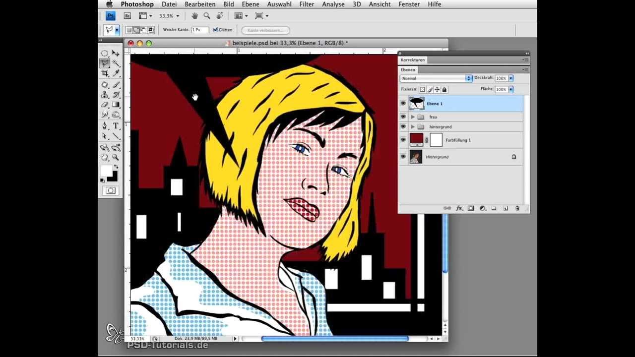Photoshop tutorial portrt im stil von roy lichtenstein pop art photoshop tutorial portrt im stil von roy lichtenstein pop art youtube baditri Gallery