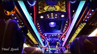 എന്റമ്മോ. ലെവൻ പുലിയാണ് കേട്ടാ ! Unbeatable Heavy INTERIOR & DJ Floor of THAILAND Tour Bus