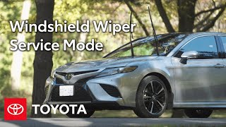homepage tile video photo for Toyota How-To: Windshield Wiper Service Position | Toyota