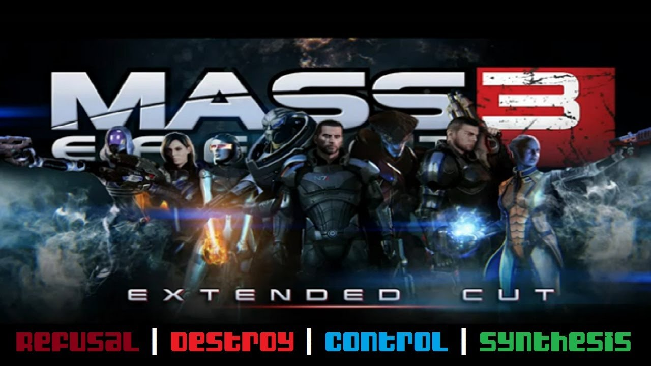 mass effect 3 extended cut all four full endings youtube. Black Bedroom Furniture Sets. Home Design Ideas