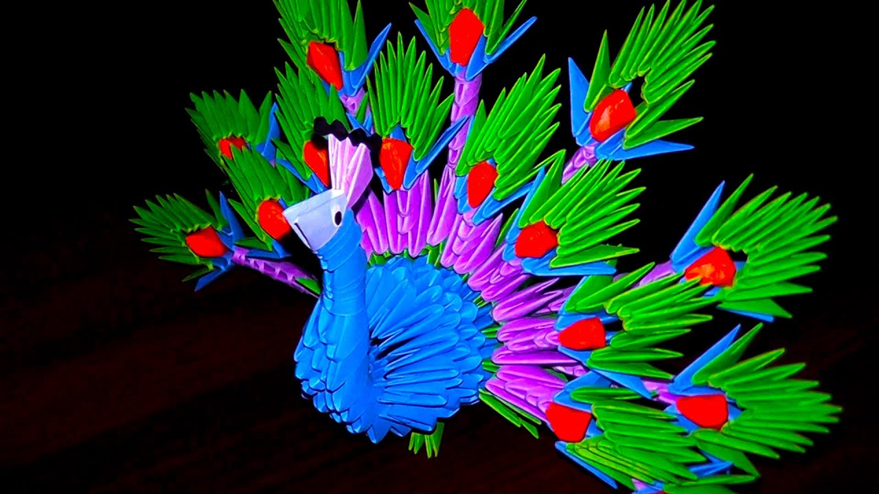 3D Origami Peacock The King Of Birds Tutorial Instruction
