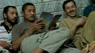 Hazara guys belonging from Quetta, Pakistan in Mehmood abad, Isfahan, Iran.
