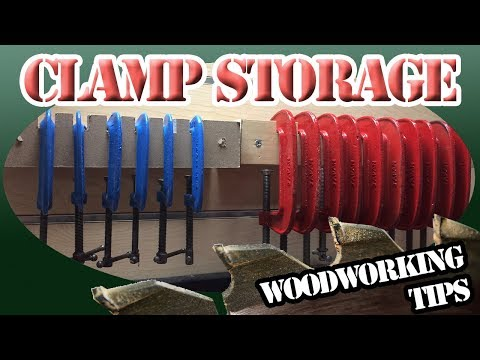 Shop Project - C Clamp Storage - WilmerWoodWorks