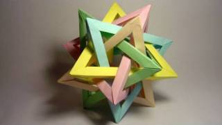 Origami Five Intersecting Tetrahedra (complete assembly)
