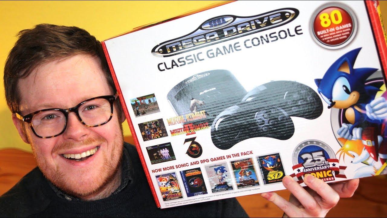 Sega mega drive genesis classic games console with 80 - Sega genesis classic console with 80 built in games ...