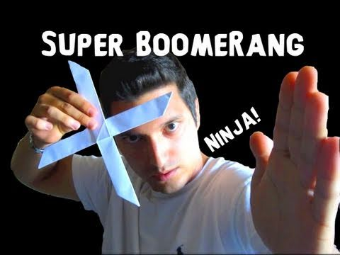 Papercraft How to Make the Super Boomerang! - Rob's World