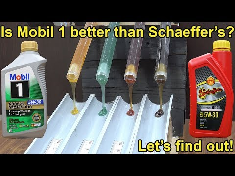 Is Mobil 1 better than Schaeffer's Full Synthetic 5W-30 Motor Oil? Let's find out!