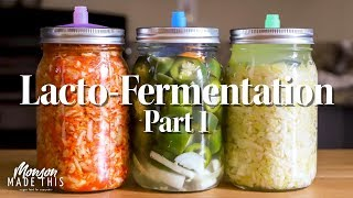 Easy Lacto-Fermentation Pat 1  - Sauerkraut, Kimchi, Dill Pickles, Jalapeno Hot Sauce