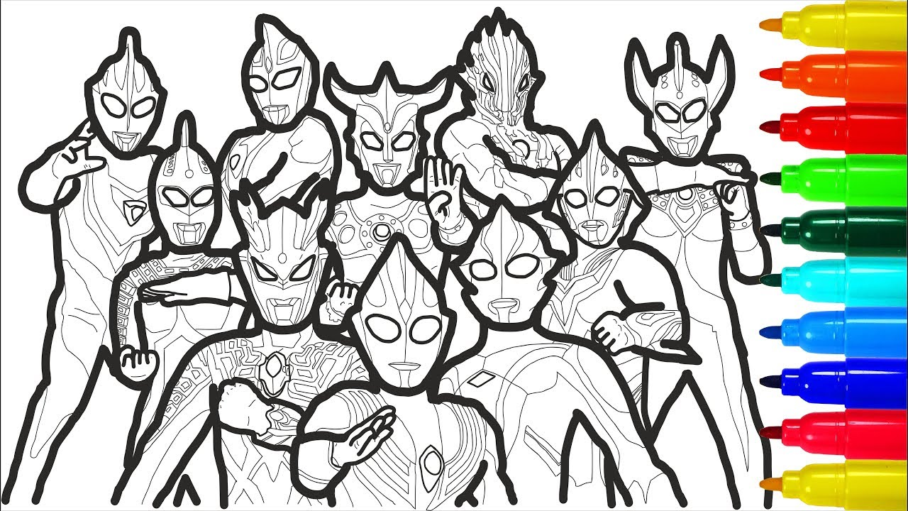 ultraman coloring pages - photo#41