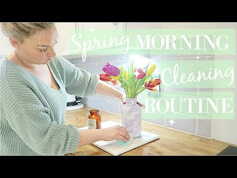 CLEAN WITH ME 2018 | MORNING CLEANING ROUTINE | SPRING CLEAN