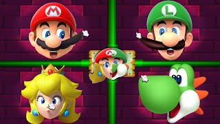 Mario Party 2 MiniGames - Peach Vs Luigi Vs Mario Vs Yoshi (Master Cpu)
