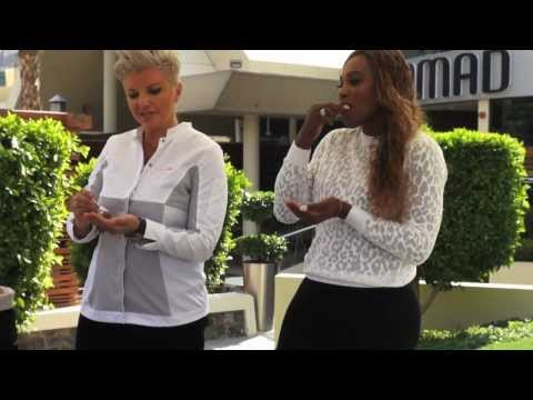 Serena Williams and Petra Kvitova have fun in Dubai