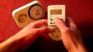 таймер Электронный VS Механический Systec TG-14A Таймер цифровой TGE-2A таймер розетка.Реле времени