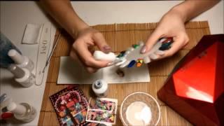 Слайдер дизайн с гель лаком / Slider design with nail polish(По просьбе многих девочек решила сделать обучающее видео по тому, как устанавливать слайдеры на гель лак...., 2015-03-31T20:35:20.000Z)