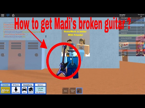 How To Get Madi's Old Guitar L Roblox High School