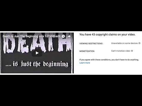 Death Is Just The Beginning vols 1-7   VHS edit