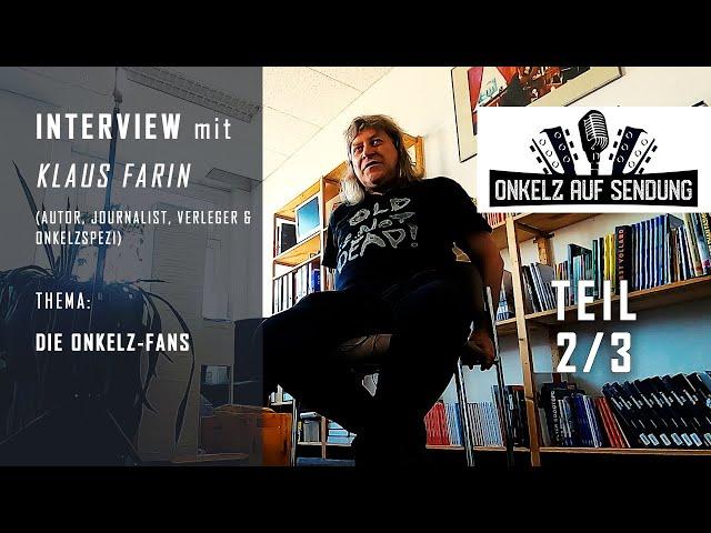 Böhse Onkelz Interview mit Klaus Farin (Buch der Erinnerungen) 2/3 Thema: Die Onkelz-Fans - ep. 04.2