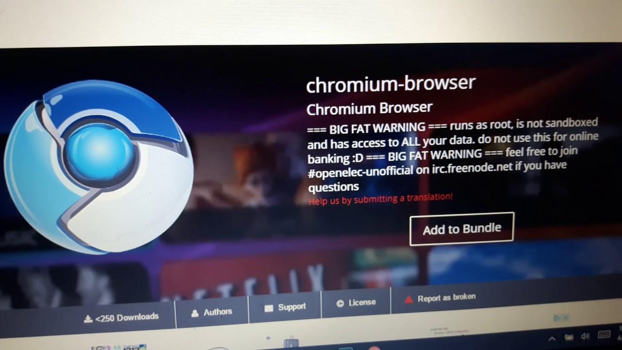 web browser for kodi