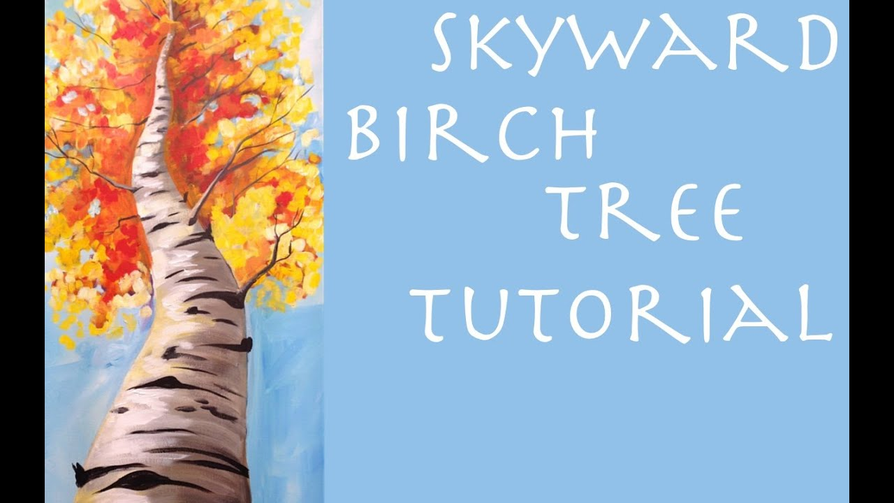 Fall Birch Tree Beginner Acrylic Painting Tutorial