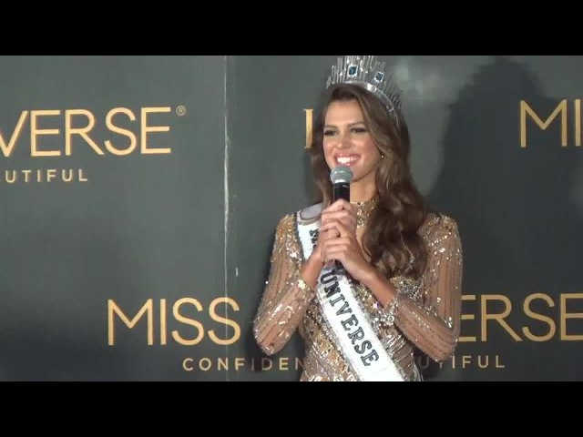 Iris Mittenaere: 'Becoming Miss Universe is a dream'