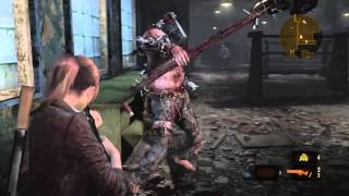 resident evil revelations 2 boss fight on chapter 2 on hardest difficulty setting first try victory