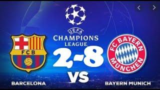 ... skor akhir barcelona (2) vs bayern munich 15 agustus 2020 hasil vs...