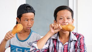 NERF GUN FRIED CHICKEN FOOD BATTLE