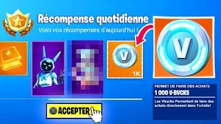 OBTENIR 1,000 V-BUCKS or A SKIN BY DAY on FORTNITE!!