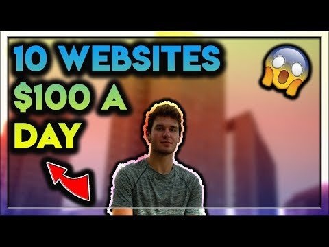 10 Websites That Pay You $100 Every Day! (Work From Home)
