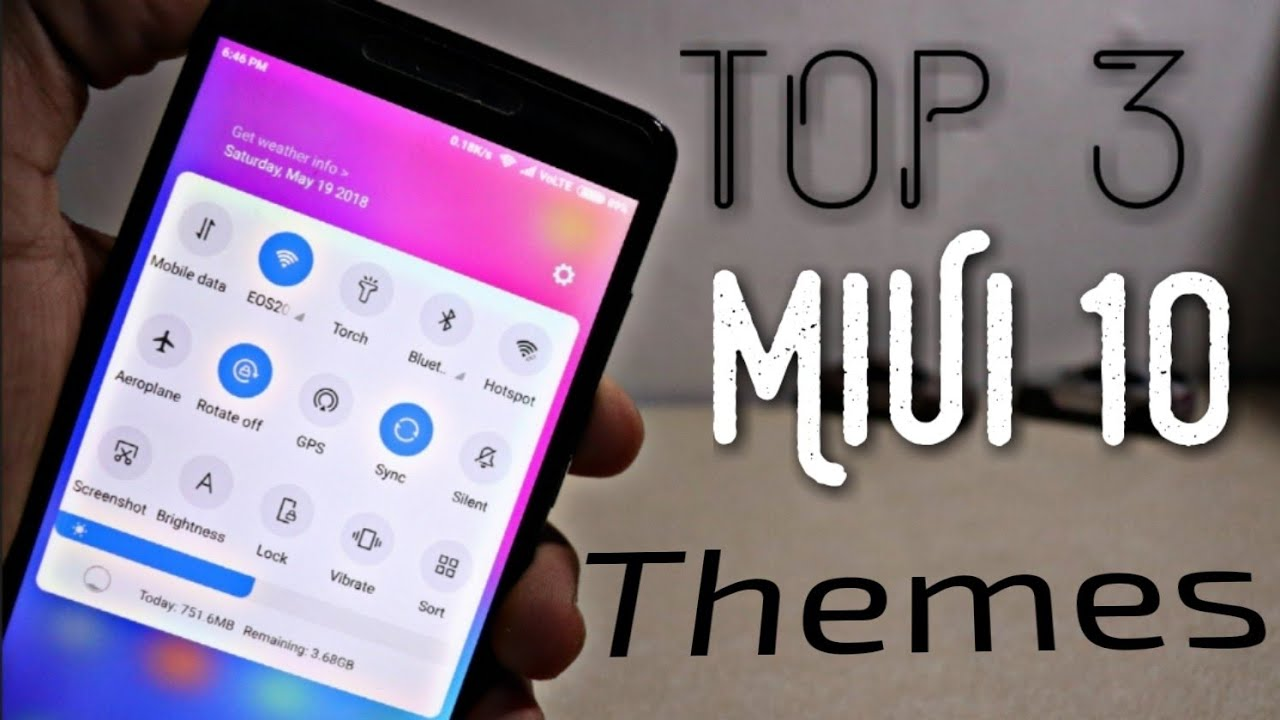 Top 3 THEME For MiUi 10 | Change MiUi 9 5 to MiUi 10 | Install MiUi 10