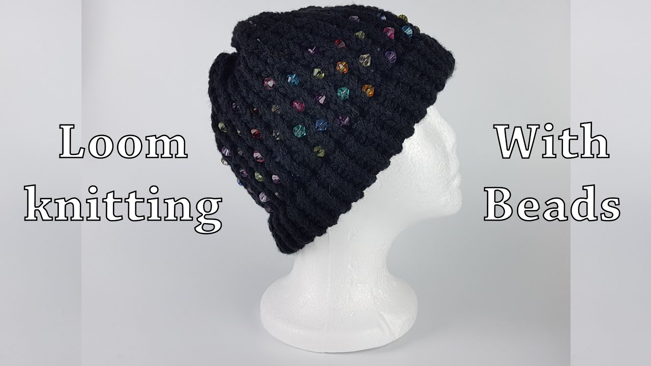 Loom knitting with beads - YouTube