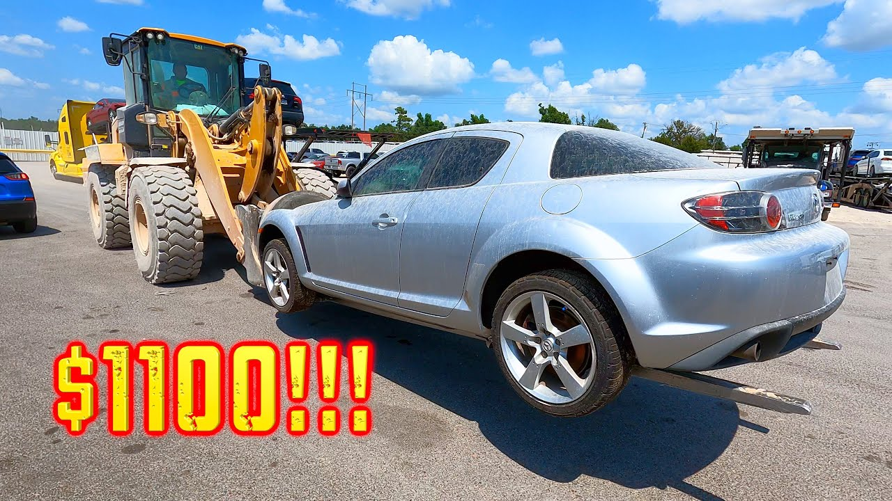 I won a 2004 Mazda RX8 6spd From Copart for $1100 With a BIG SURPRISE INSIDE!! Brap Brap! 300K SUBS!