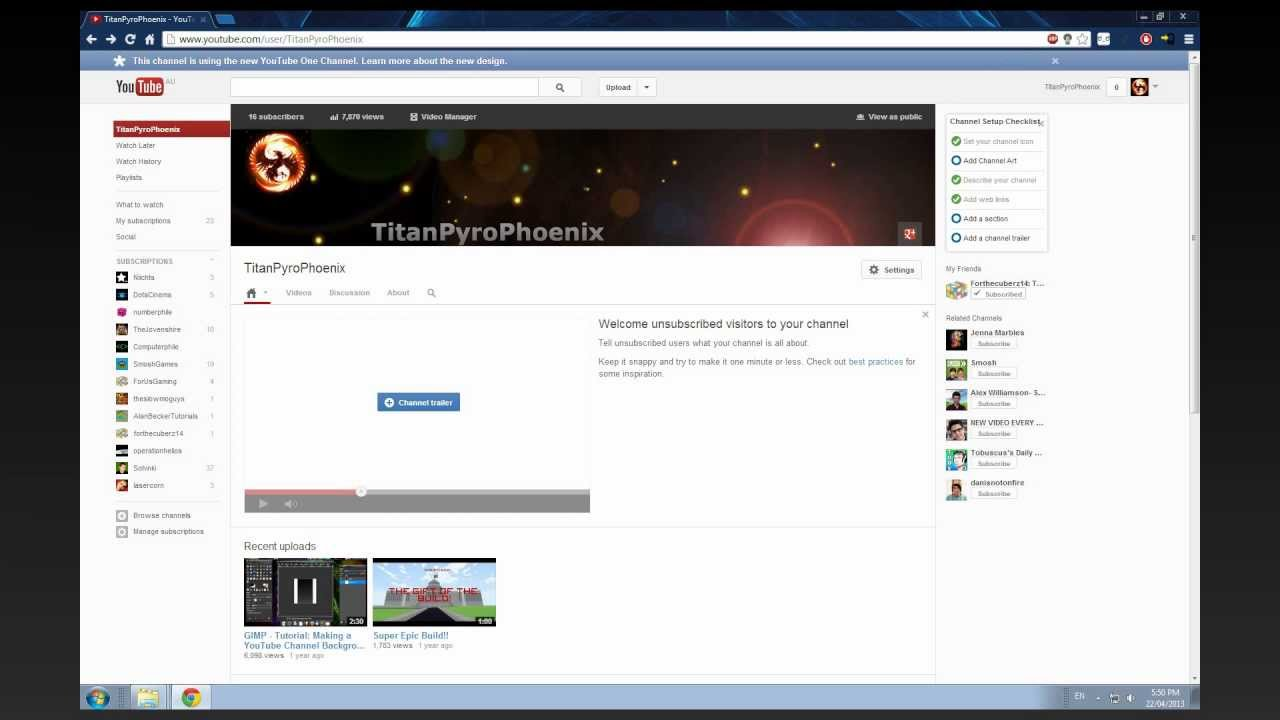 GIMP - Tutorial: Making a YouTube Channel BANNER [2013] - YouTube