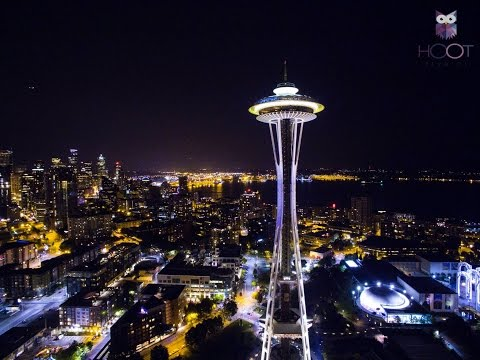 Drone shots of Lake Union, Seattle and Sodo