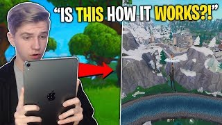 playing Fortnite Mobile on Vertical Resolution (don't try this)