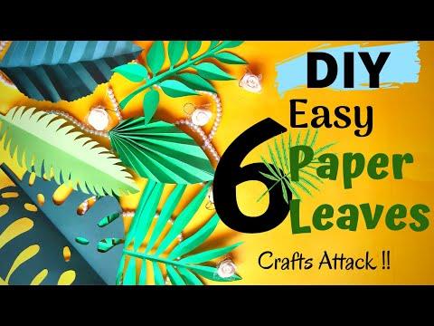 6 Easy DIY Paper Leaves || How to Make Paper Leaves || Video Tutorial